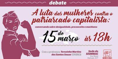 Venha debater a luta das mulheres contra a desigualdade e o machismo